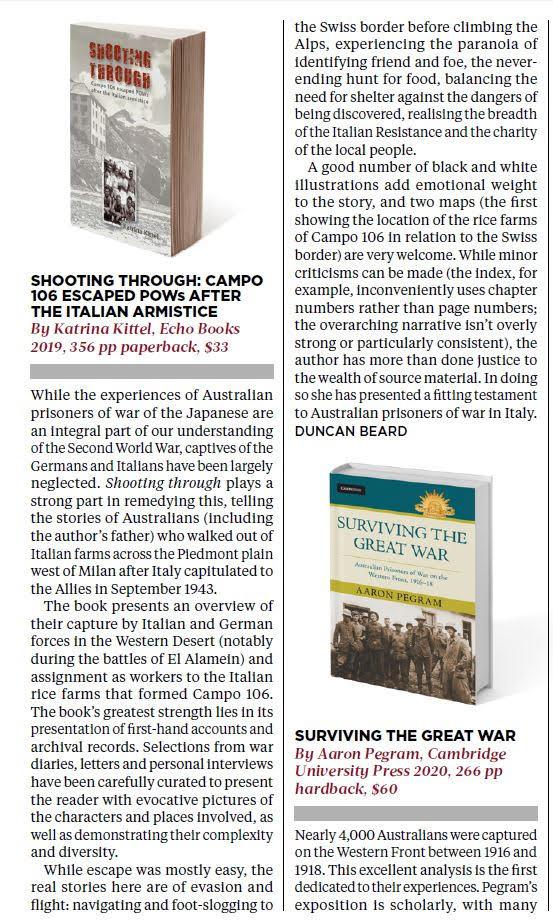 Katrina Kittel, Review, Wartime Magazine